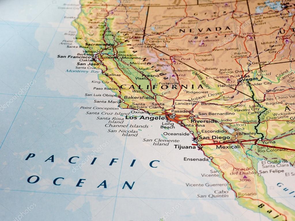 los angeles karta Los Angeles karta detalj med selektiv inriktning – Redaktionell  los angeles karta