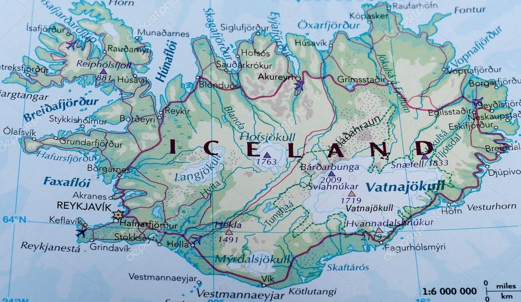 Map of iceland stock editorial photo claudiodivizia 110162978 map of iceland stock photo gumiabroncs Images