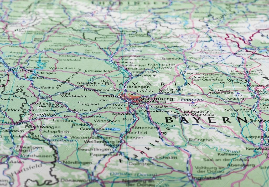 Map of Nuremberg Germany Stock Editorial Photo claudiodivizia