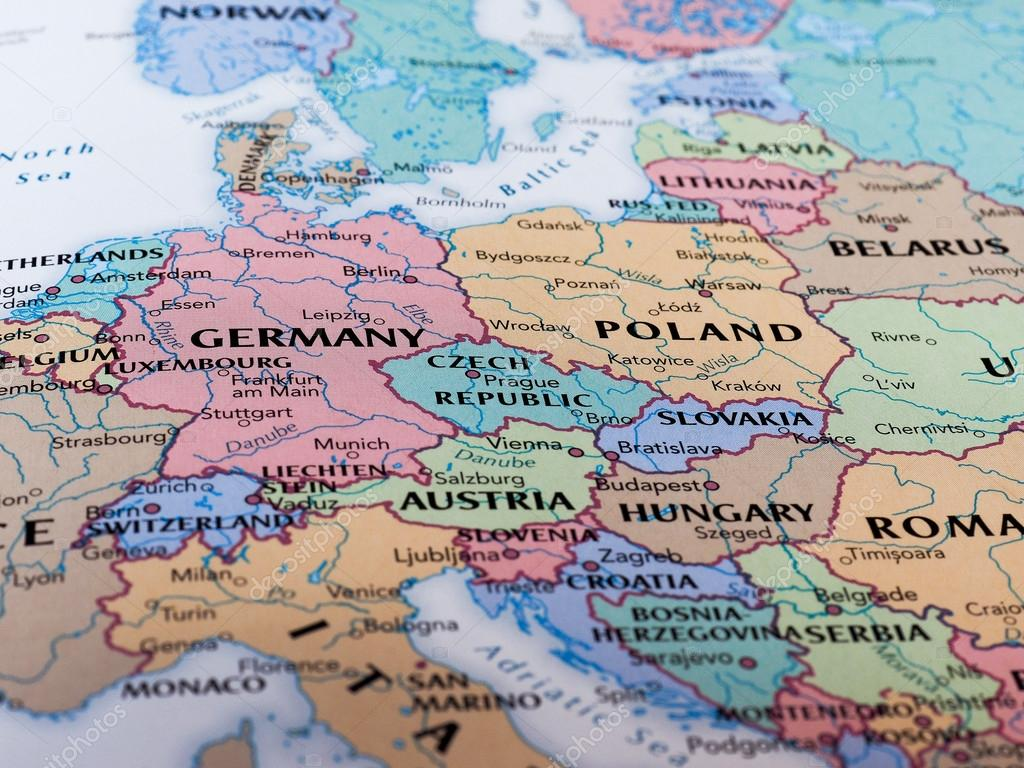 Map of Eastern Europe — Redaktionelles Stockfoto ...