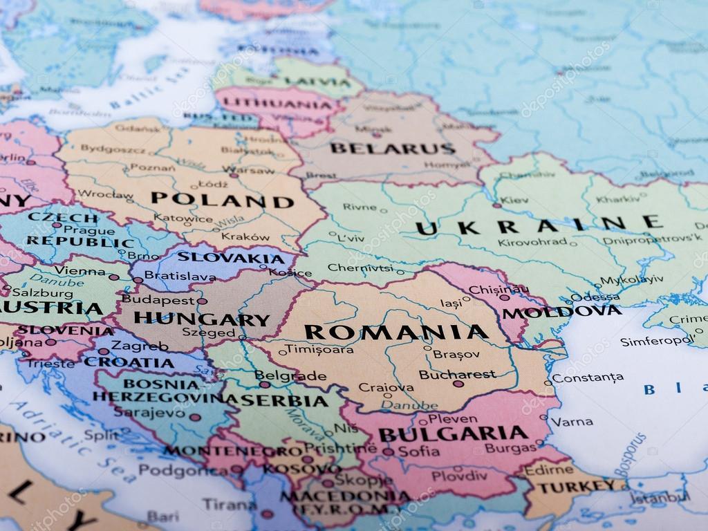 rumänien karta karta över Rumänien – Redaktionell stockfoto © claudiodivizia  rumänien karta