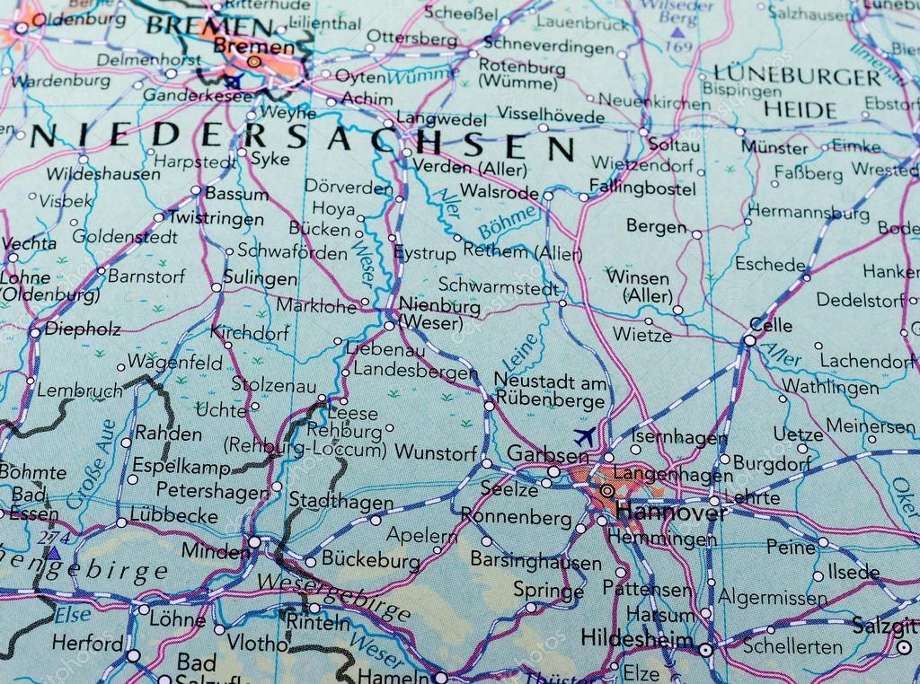 Carte Allemagne Hannover.Carte De Hannover Allemagne Photo Editoriale
