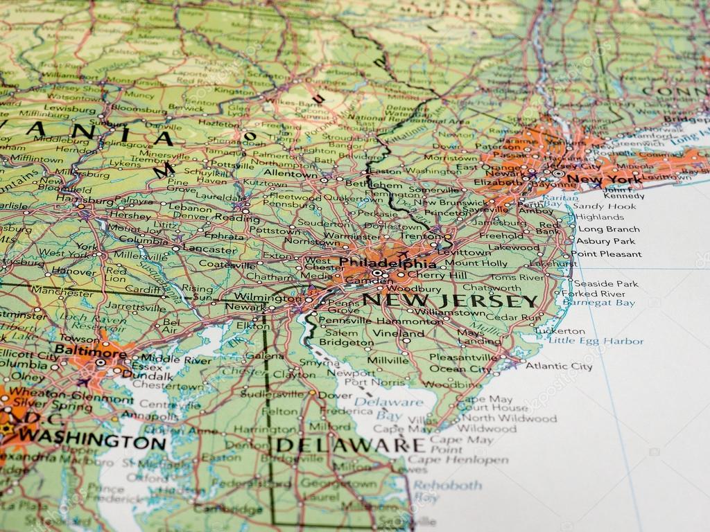 Philadelphia Map Detail With Selective Focus Stock Editorial Photo - Philadelphia usa map