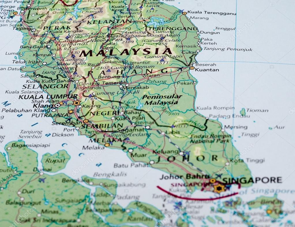 Carte Du Monde Kuala Lumpur.Carte De La Malaisie Photo Editoriale C Claudiodivizia 111074994