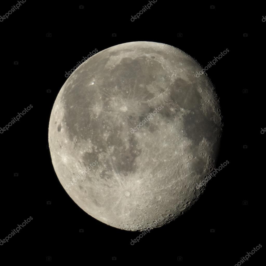 Fotos: luna cuarto menguante | Luna gibosa menguante — Foto ...
