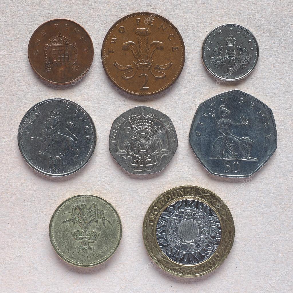 Gbp Pfund Münzen Redaktionelles Stockfoto Claudiodivizia 115088878