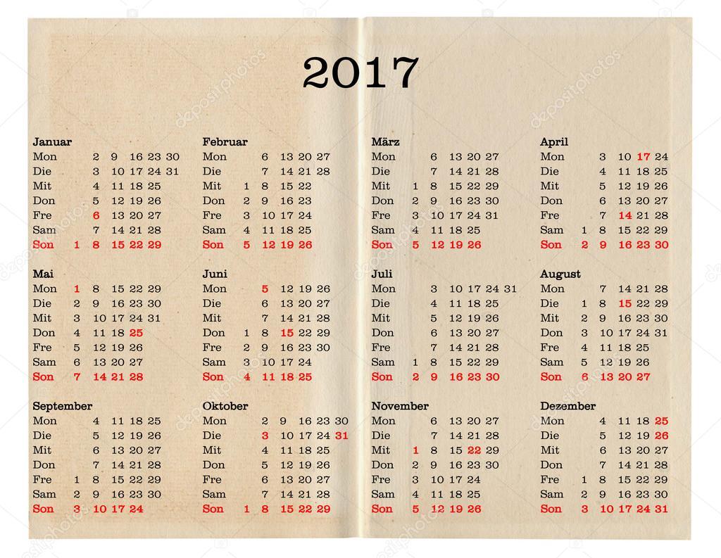 Year Calendar Germany : Calendario anno germania — foto stock