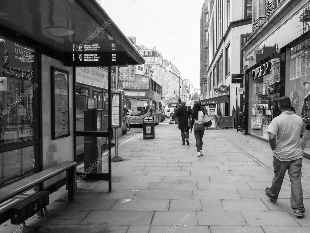 Black And White The Strand London Stock Editorial Photo