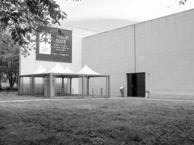 Black and white SSR Art Gallery in Turin