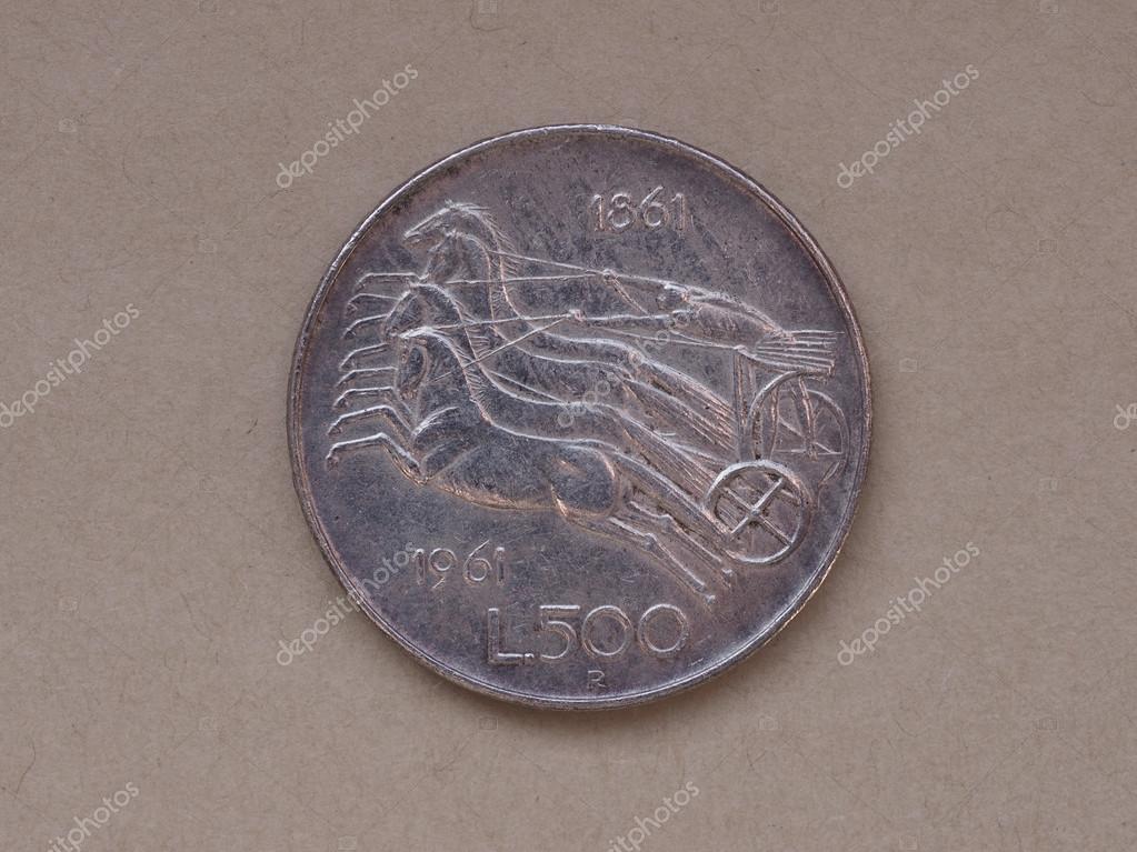 Italienische 500 Lire Münze Stockfoto Claudiodivizia 61958351