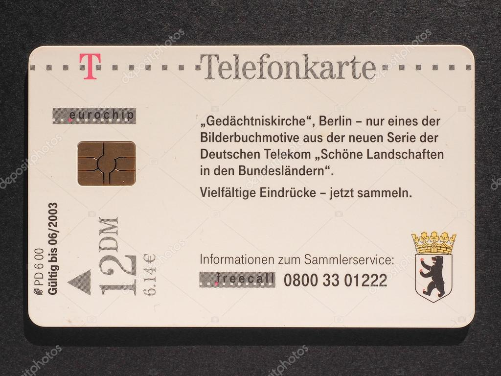 Carte Telephonique Allemagne.Carte Telephonique Allemand Photo Editoriale