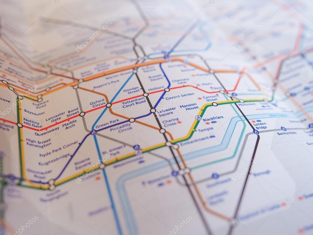 london uk january 10 2015 tube map of the london underground subway lines photo by claudiodivizia