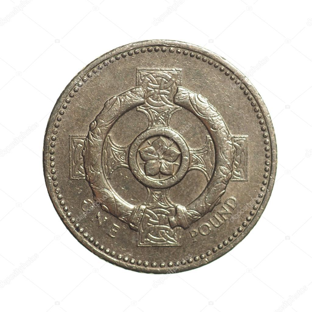Ein Pfund Münze Stockfoto Claudiodivizia 68041203