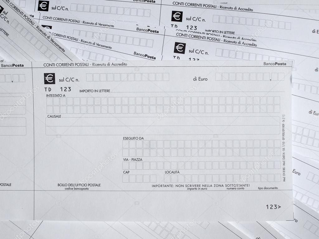 Postal Order Form U2014 Stock Photo #70084543