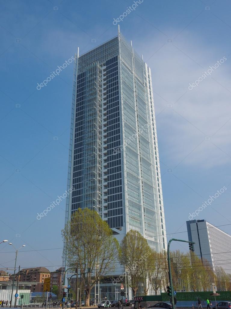 Wolkenkratzer Intesa San Paolo In Turin Redaktionelles Stockfoto