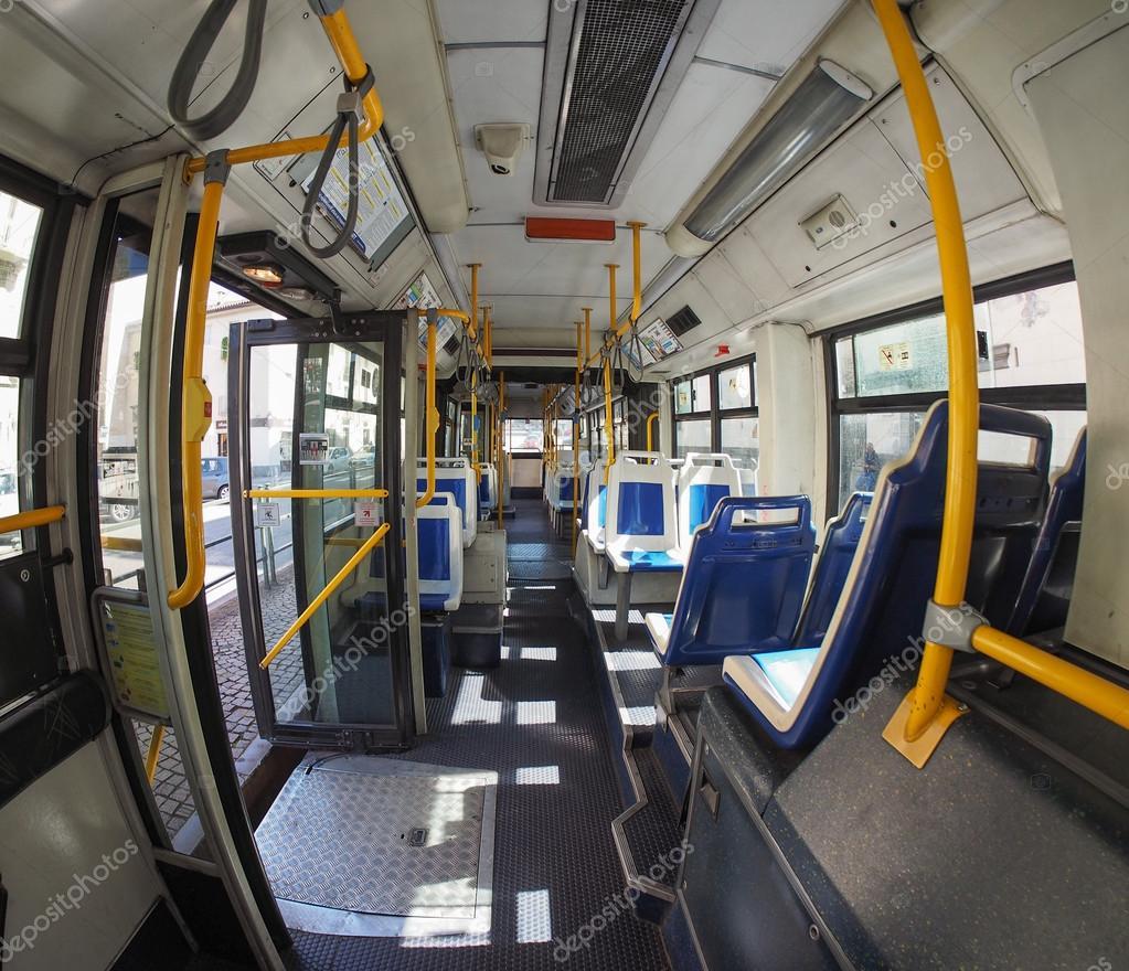 Interno Di Bus A Torino Foto Editoriale Stock
