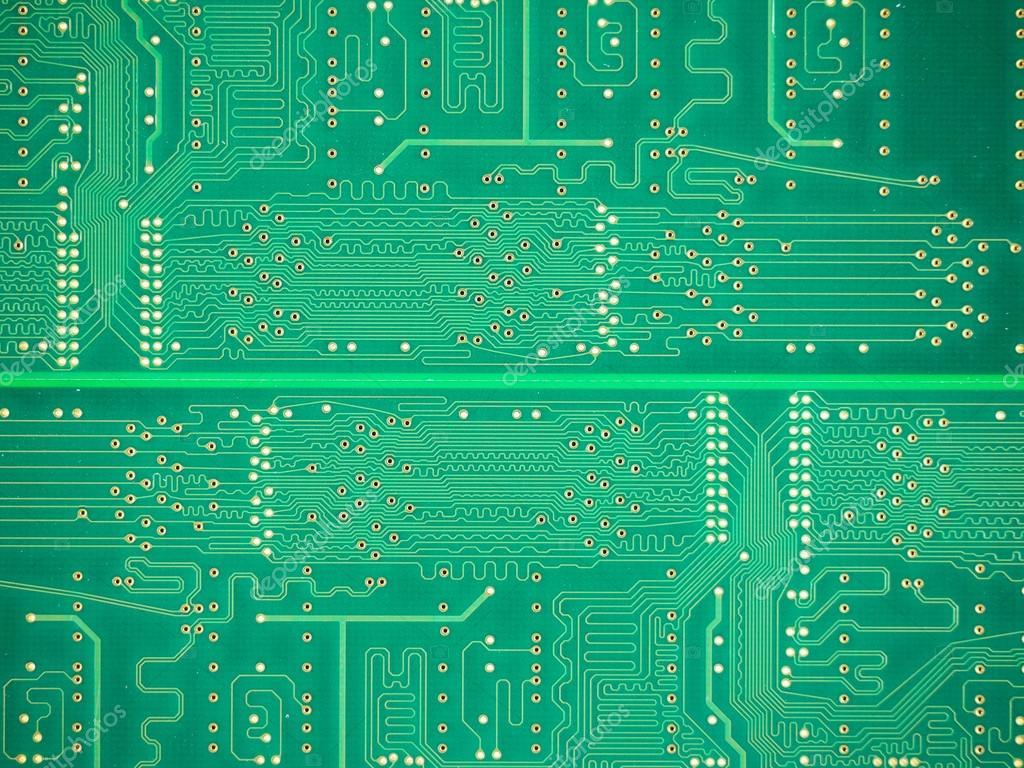 Circuito Impreso : Fondo de placa de circuito impreso u foto de stock