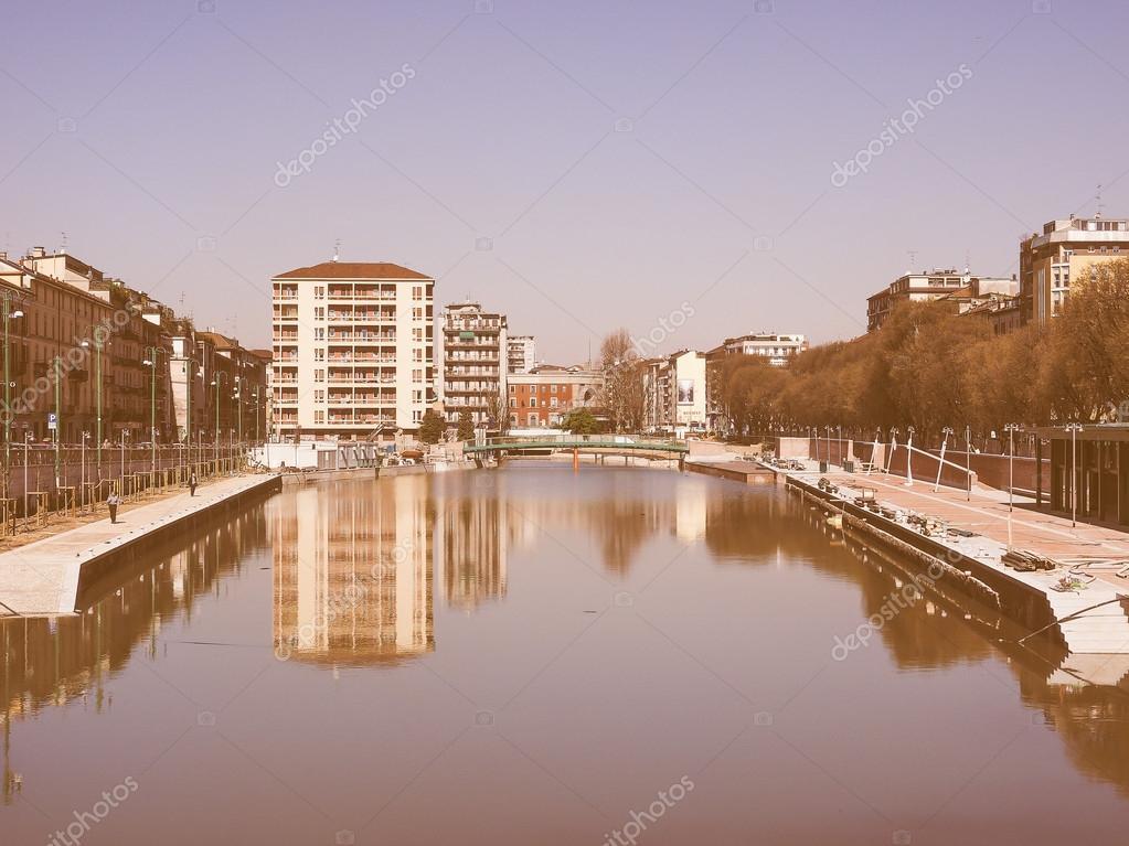 Retro-Suche Mailand Darsena — Stockfoto © claudiodivizia #84148312