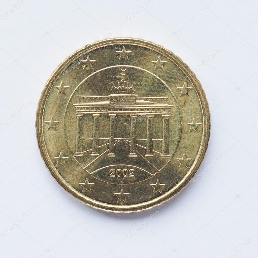 Deutsche 50 Cent Münze Stockfoto Claudiodivizia 85404782