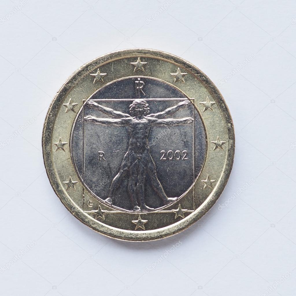 Italienische 1 Euro Münze Stockfoto Claudiodivizia 87022434