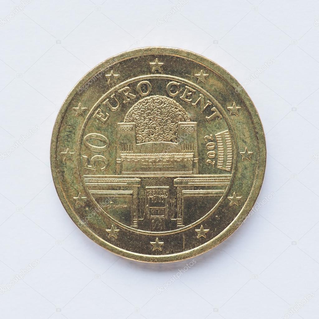 österreichische 50 Cent Münze Stockfoto Claudiodivizia 87434922