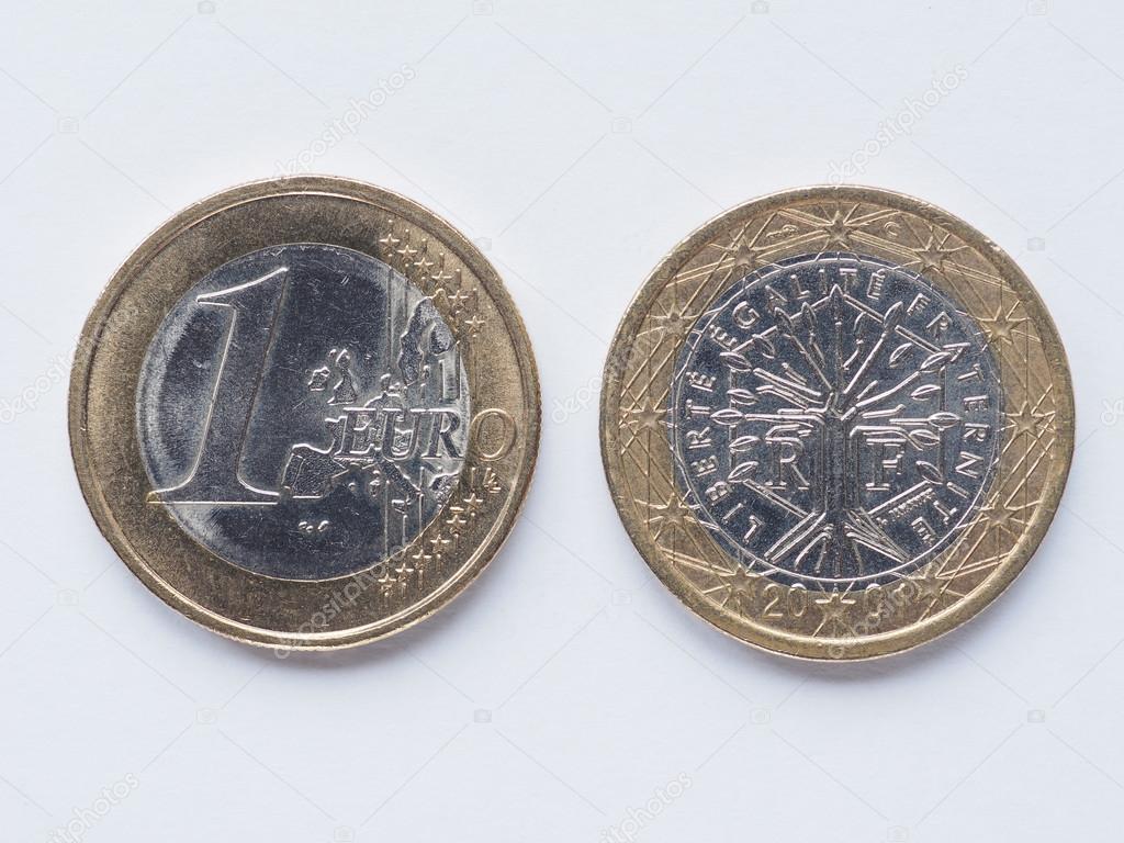 Moneta francuska 1 euro zdj cie stockowe - Stock piastrelle 2 euro ...