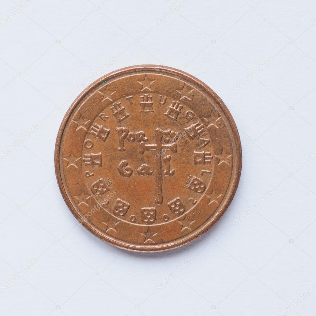 Portugiesisch 5 Cent Münze Stockfoto Claudiodivizia 90020524