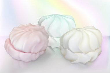 color realistic marshmallow