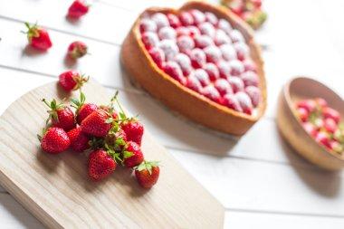 Homemade Strawberry Cheesecake for dessert