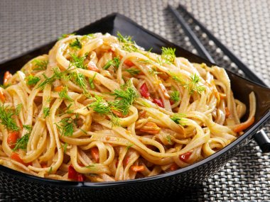 Asian noodles with sauce