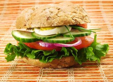 Vegetarian sandwich with vegetables
