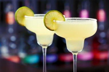 Margarita Cocktails  in bar