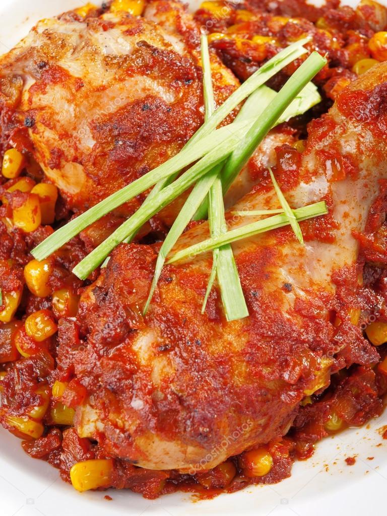 Meksika tarzında tavuk
