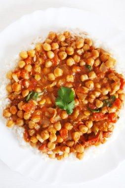 Channa Masala over rice