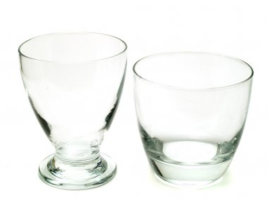 Two empty cocktail glasses
