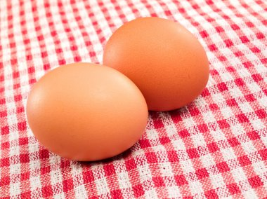 Two eggs on table