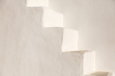 White stairs on  church wall