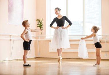 At ballet dancing class