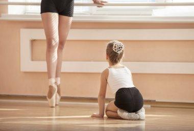 Girls at ballet dancing class