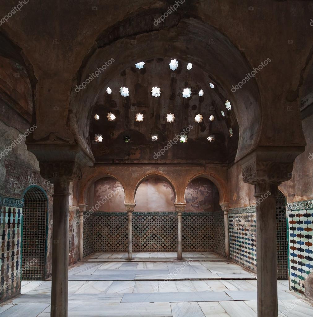 Ba os comares en la alhambra de granada espa a foto - Banos arabes palacio de comares ...