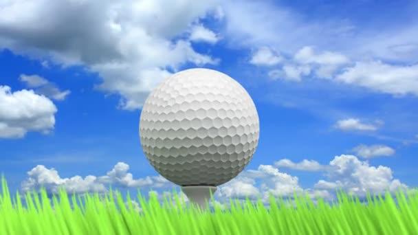 3D animované golf koncept