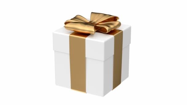 Bílé dárkové krabice animace