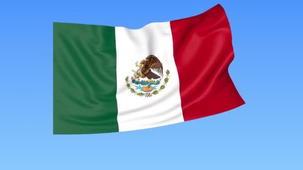 Ondeando La Bandera De México, Bucle Sin Interrupción