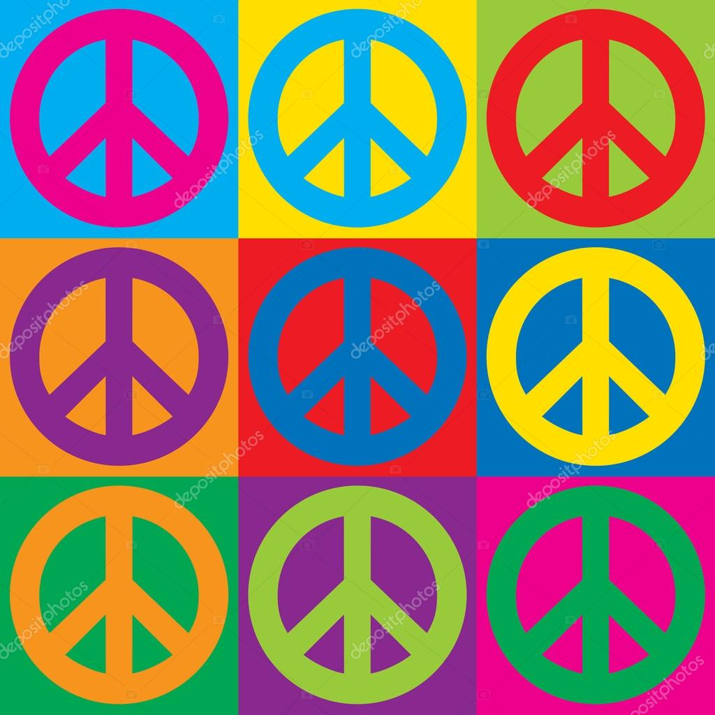 Pop art peace symbols stock vector lisann 97616940 pop art peace symbols stock vector biocorpaavc Images