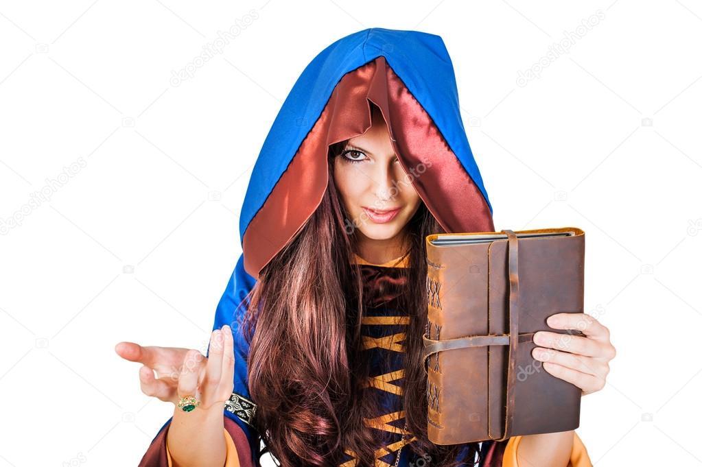 Jonge Oude Magische Mooie Boek Heks Stockfoto Halloween — 8PvynwNOm0