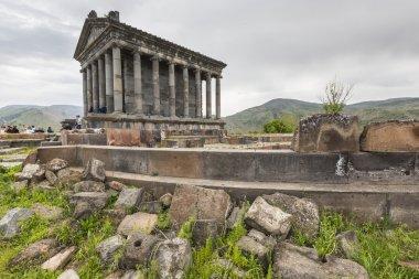 Garni, ARMENIA - May 02,2016 : Ancient Garni pagan Temple, the h