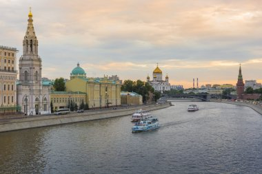 MOSCOW - JUNE 02: The towers and walls of Moscow Kremlin from th