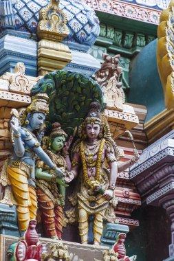 Detail of Meenakshi Temple in Madurai, India