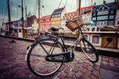 Fotografie Classic vintage retro city bicycle in Copenhagen, Denmark