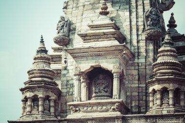 Temples of Durbar Square in Bhaktapur, Kathmandu, Nepal. stock vector